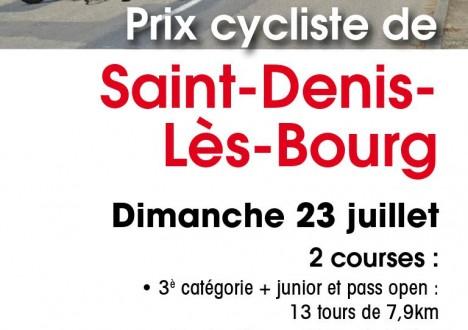 Le SDC organise le prix de St Denis lès Bourg le dimanche 23 juillet. 2 courses sont au programme : 1 en 3 FFC et une en Pass'Cyclisme. Voici le […]
